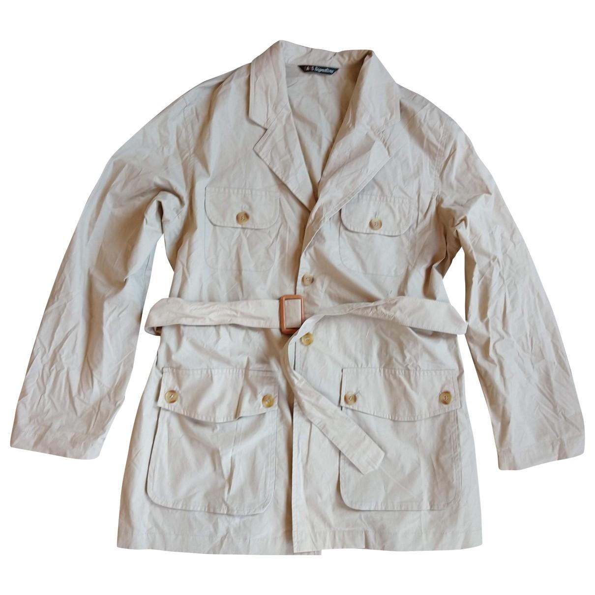 Daks \N Beige Cotton jacket for Women 46 IT