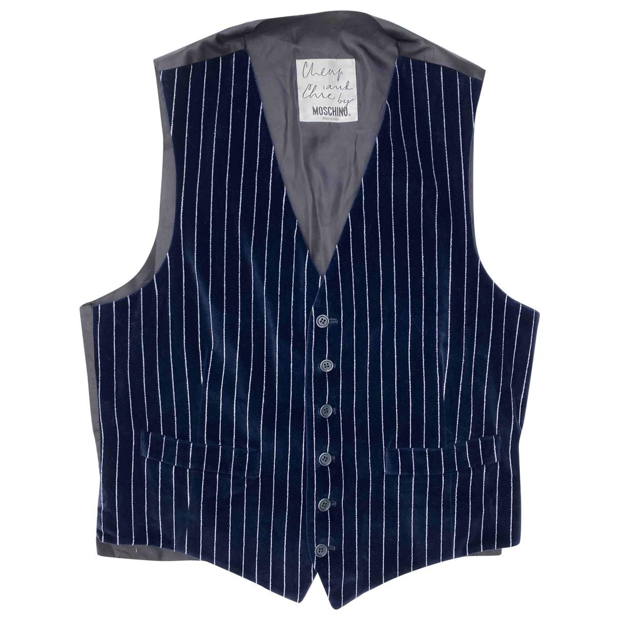 Moschino Cheap And Chic \N Pullover.Westen.Sweatshirts  in  Blau Baumwolle