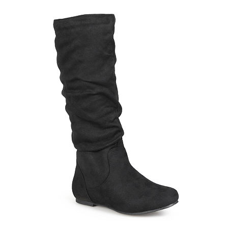 Journee Collection Womens Rebecca Slouch Boots, 7 1/2 Medium, Black