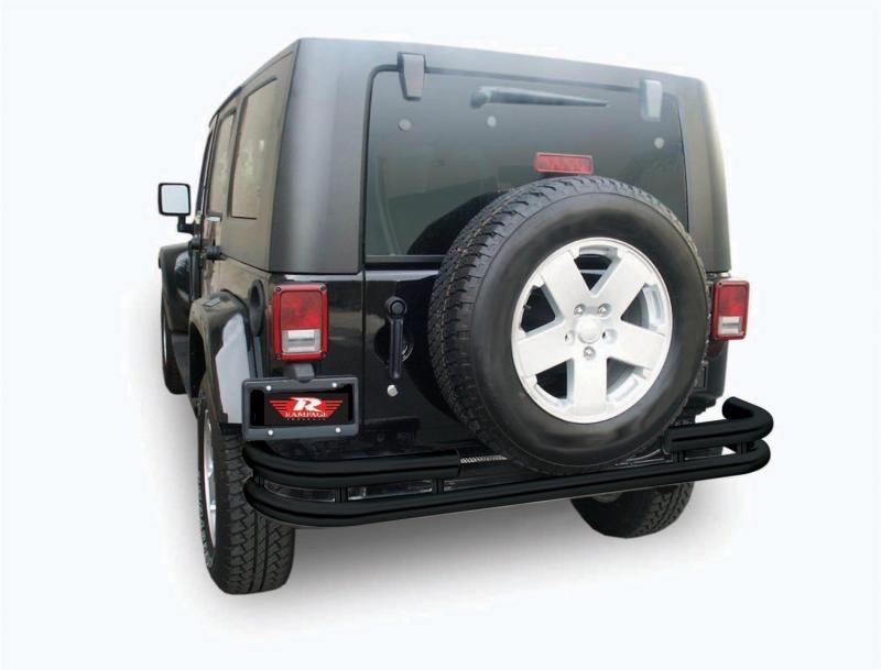 Rampage 88648 Double Tube Rear Bumper Jeep Wrangler Rear 2007-2018