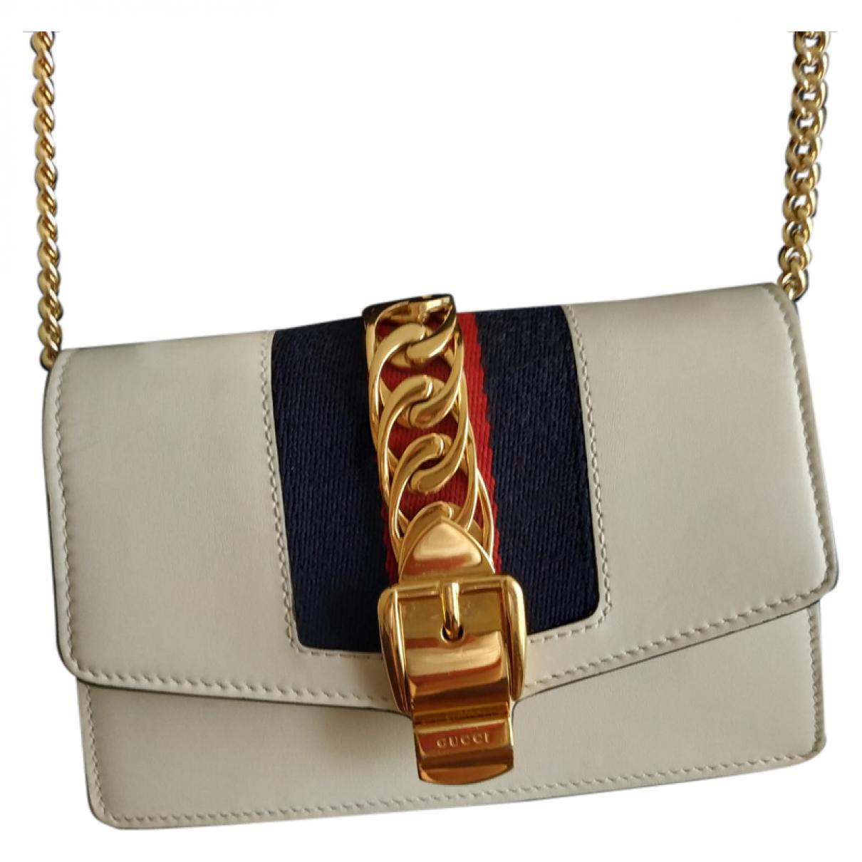 Gucci Sylvie Beige Leather handbag for Women \N