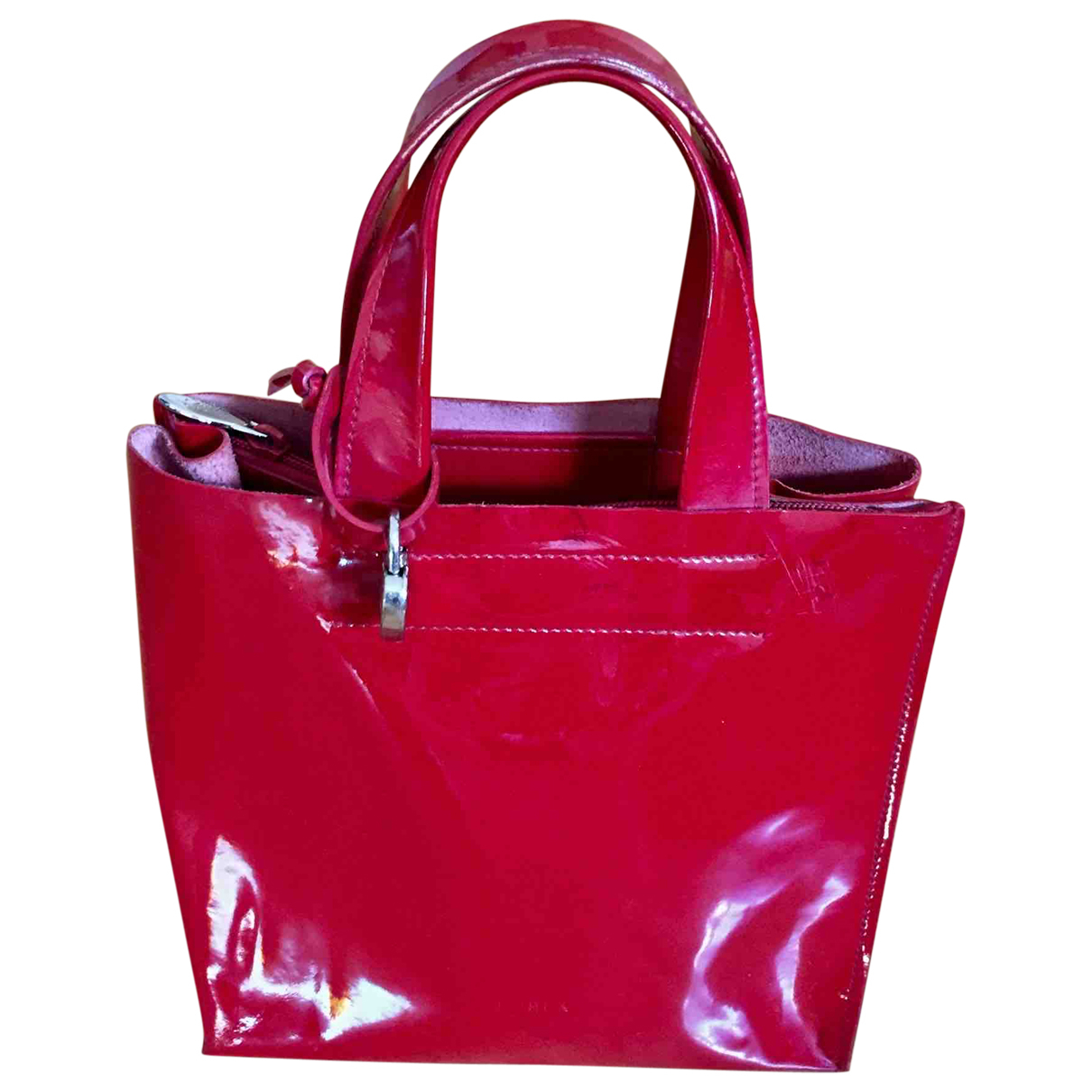 Furla \N Handtasche in  Rot Leder