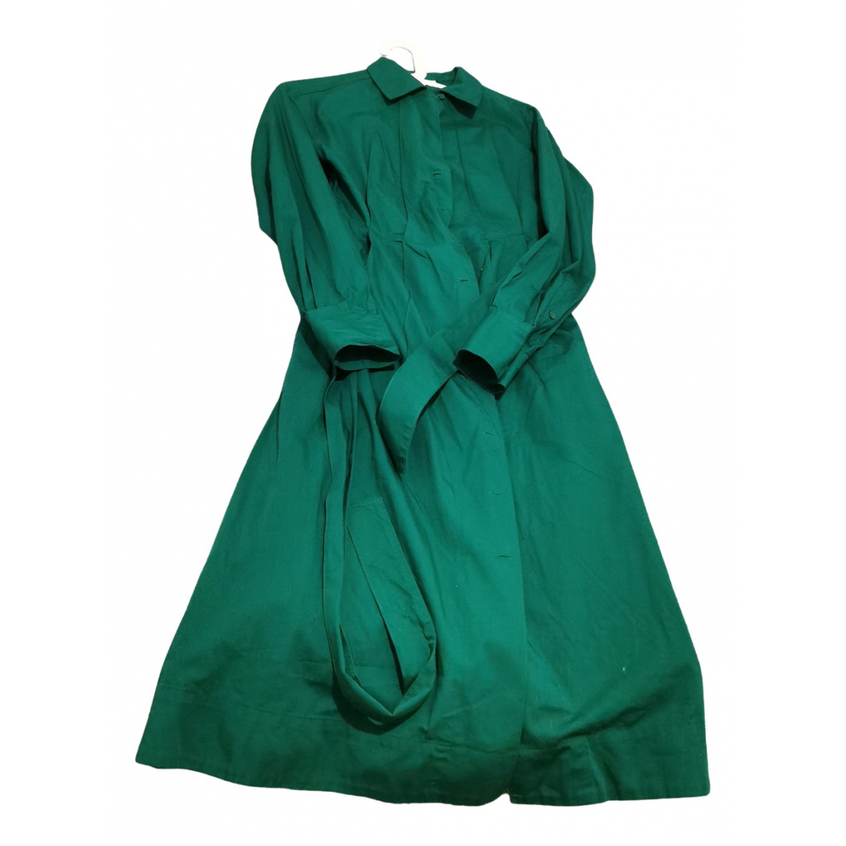Lemaire X Uniqlo \N Kleid in  Gruen Baumwolle