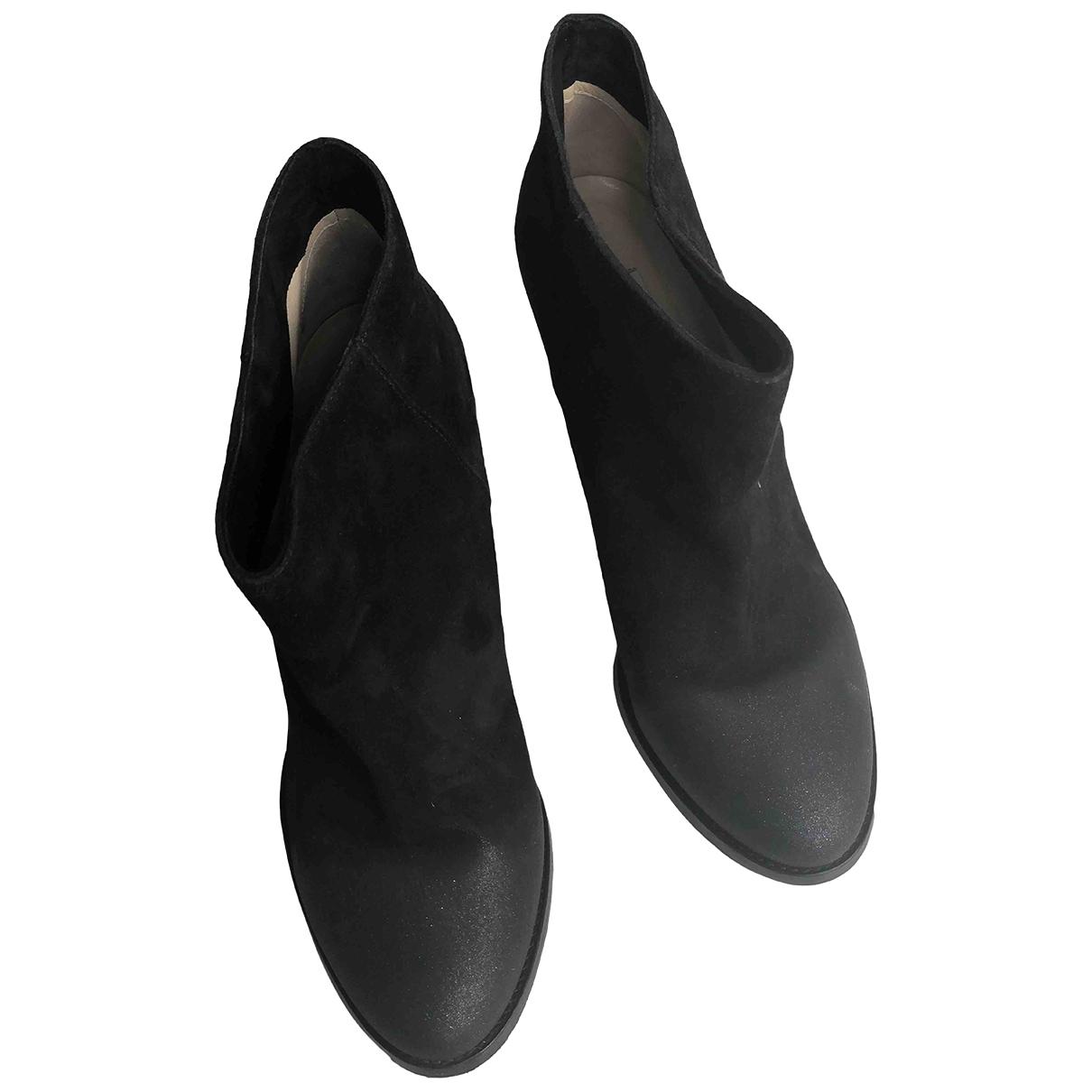 Jimmy Choo - Boots   pour femme en suede - noir