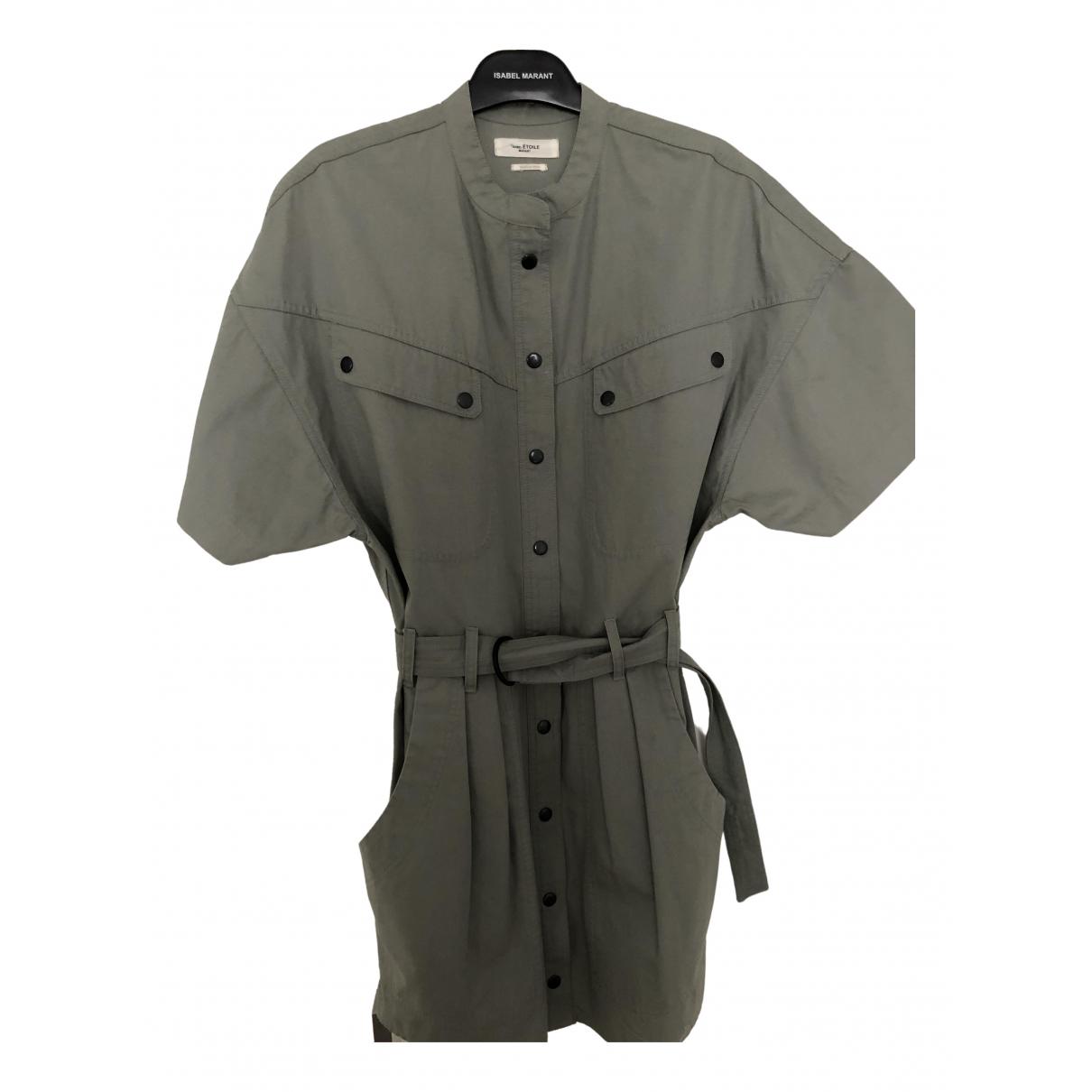 Isabel Marant Etoile \N Kleid in  Khaki Baumwolle