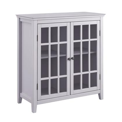 LG109GRY01U Largo Collection Cabinet with Medium-Density Fiberboard (MDF) and Pine Wood Frame in Grey