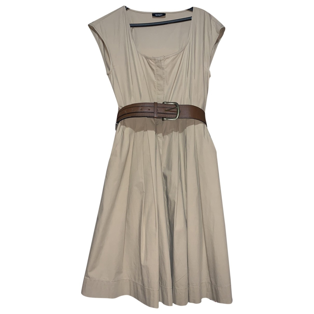 Max & Co \N Beige Cotton dress for Women 46 IT