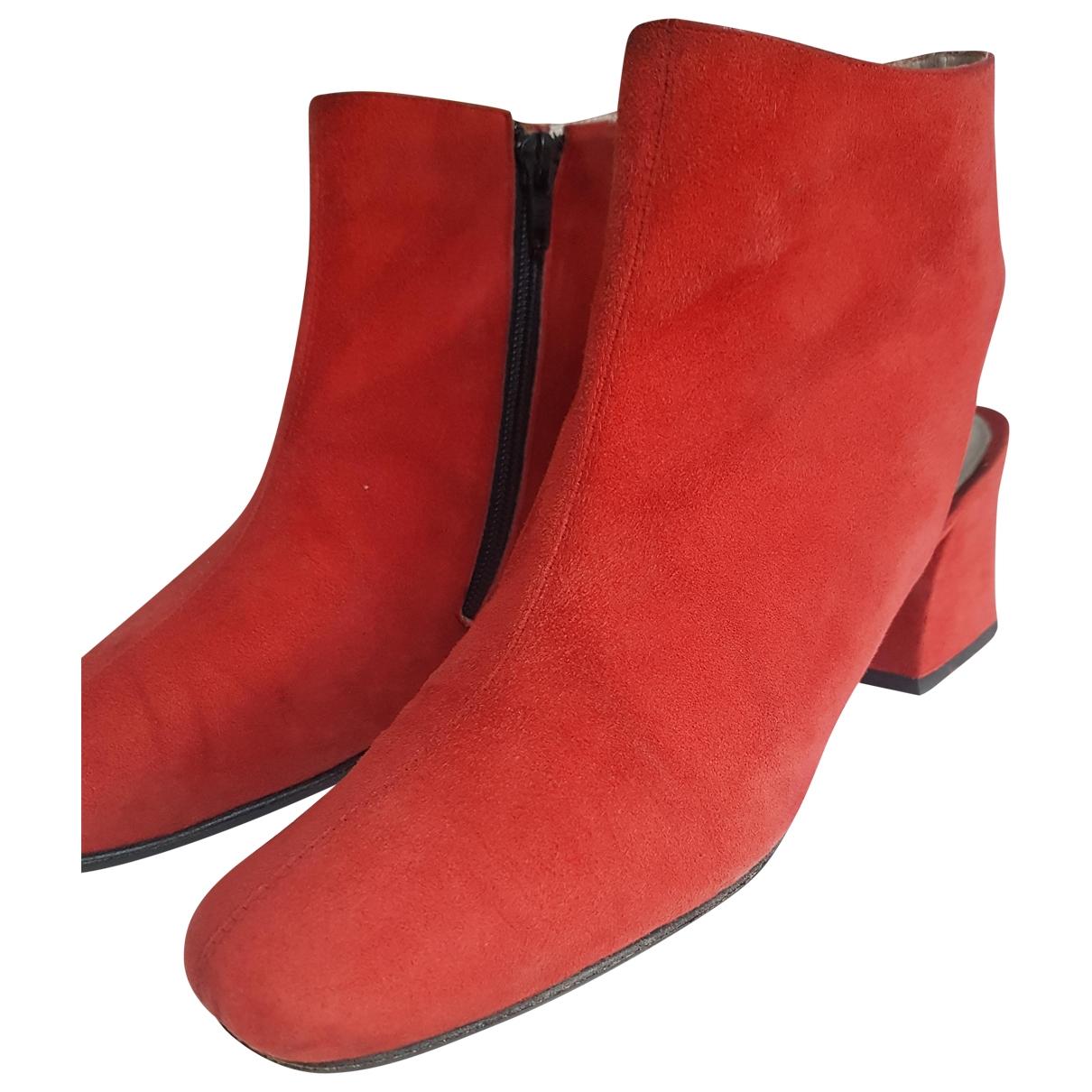 Churchs - Boots   pour femme en suede - rouge