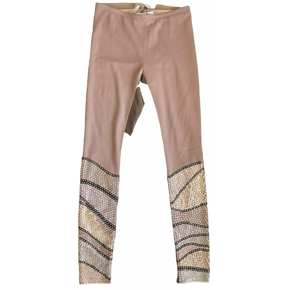 Marc Jacobs \N Multicolour Wool Trousers for Women 8 UK