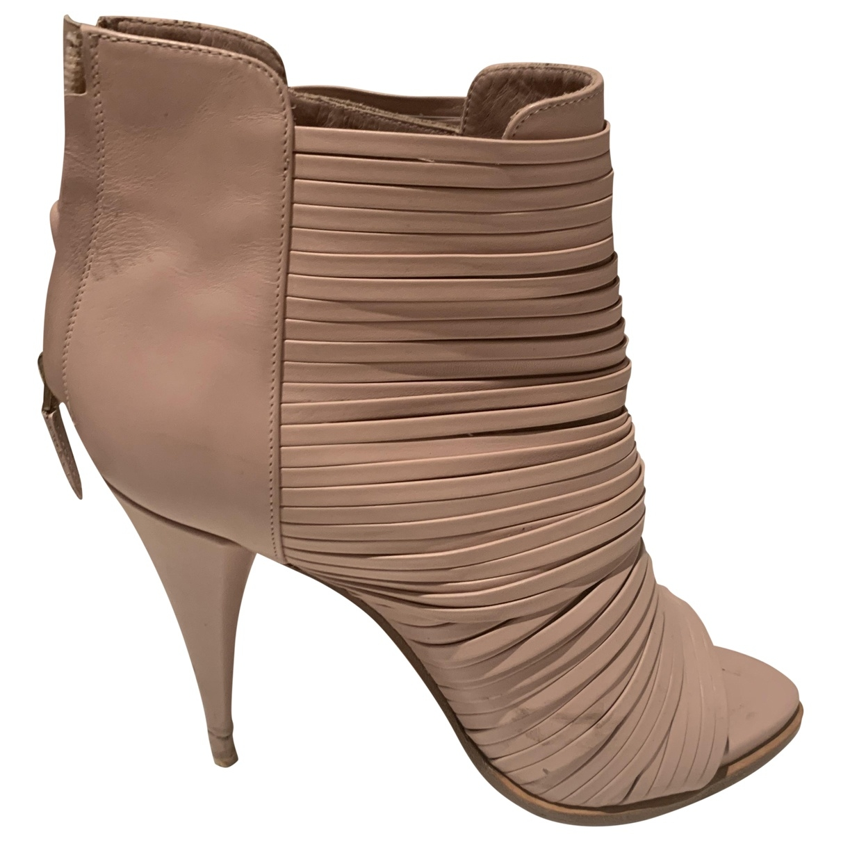 Botas open toe de Cuero Givenchy