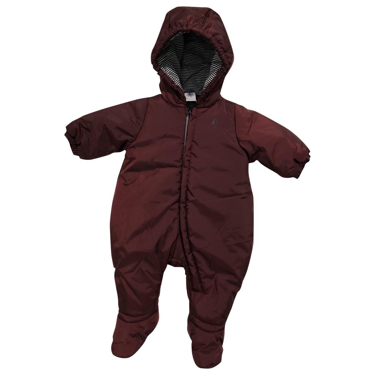 Petit Bateau \N Burgundy jacket & coat for Kids 3 months - up to 60cm FR