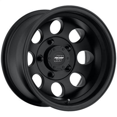 Pro Comp 69 Series Vintage Wheel, 16x8 with 5 on 5 Bolt Pattern - Flat Black - 7069-6873
