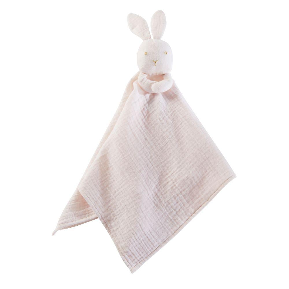 Baby-Schmusehase aus Baumwolle, rosa