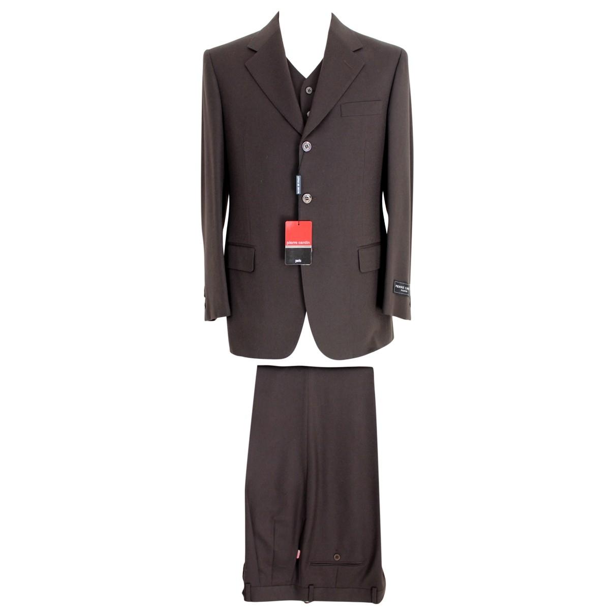 Pierre Cardin - Costumes   pour homme en cachemire - marron