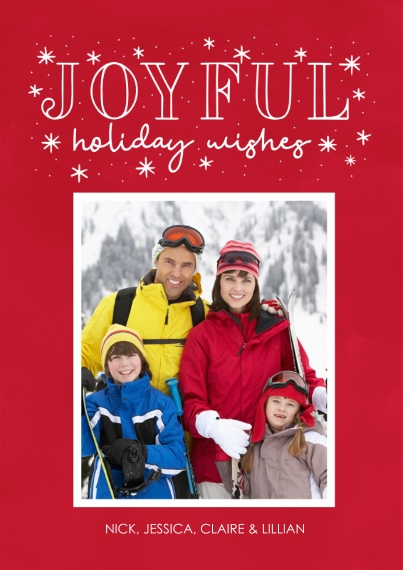 Holiday Photo Cards 5x7 Cards, Standard Cardstock 85lb, Card & Stationery -Joyful Holiday Wishes