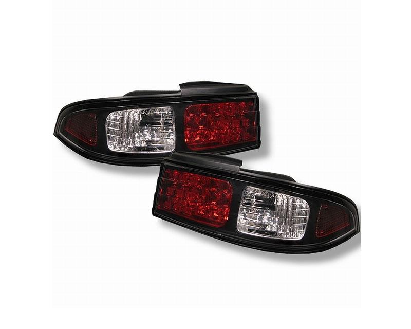 Spyder LED Black Tail Lights Nissan 240Sx 95-98