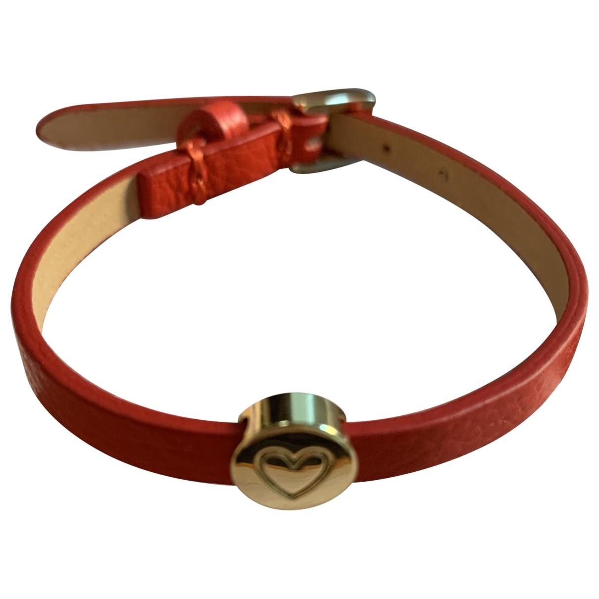 Coccinelle - Bracelet   pour femme en cuir - rouge