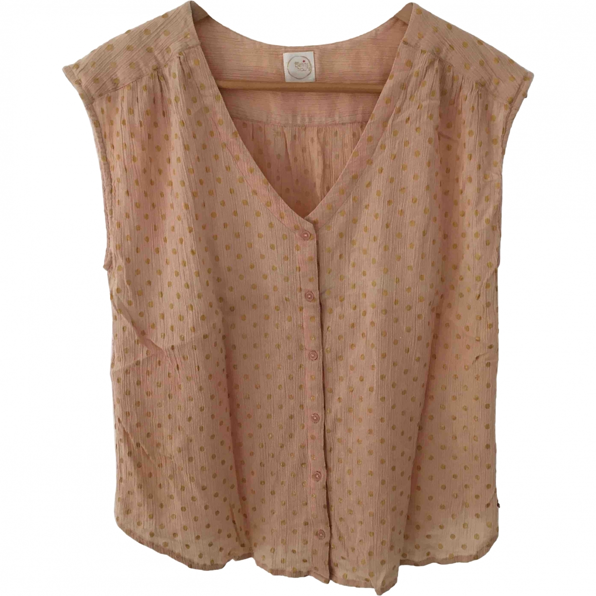 Des Petits Hauts \N Pink Cotton  top for Women 2 0-5