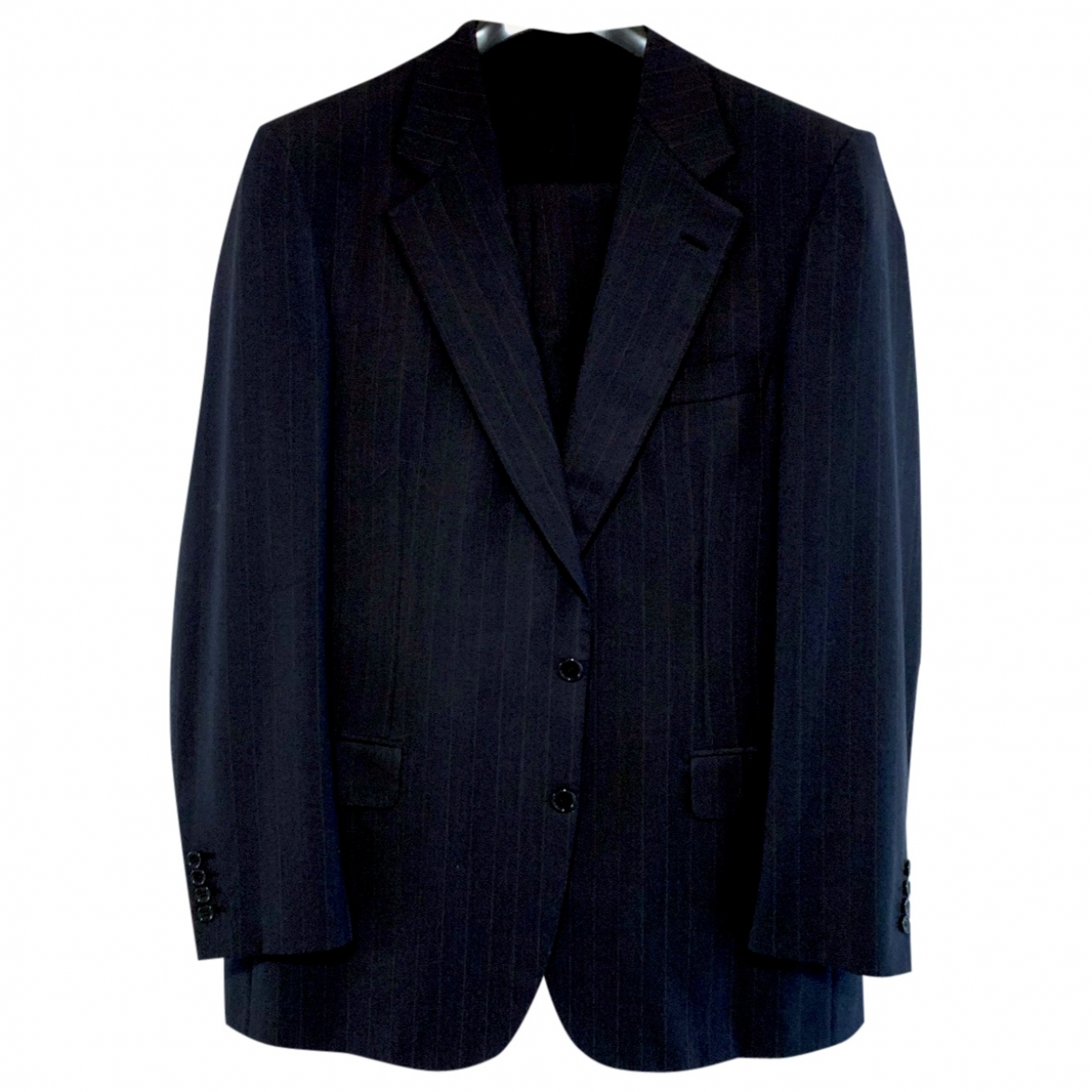 Brioni \N Black Wool Suits for Men 52 IT