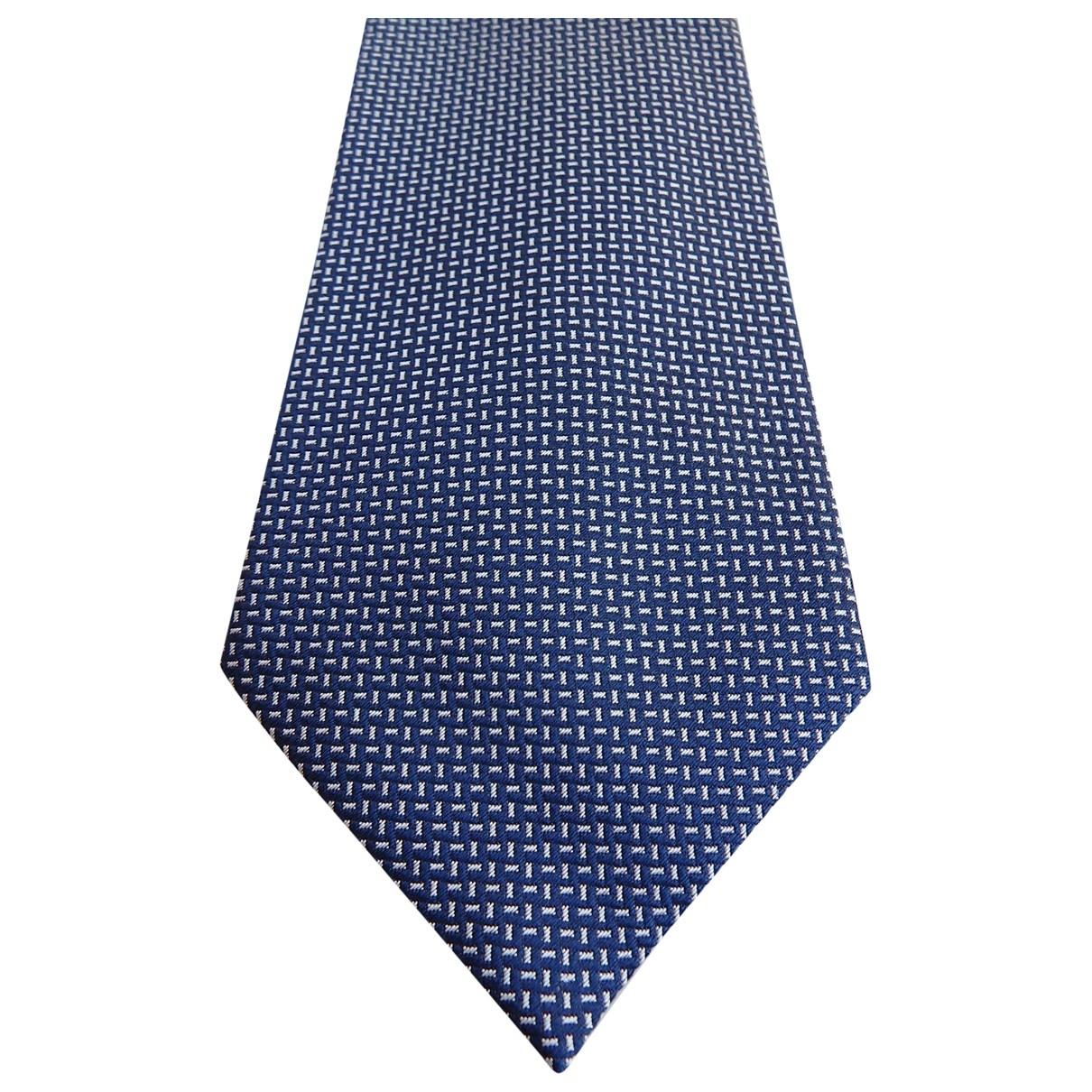 S.t. Dupont \N Krawatten in  Blau Seide