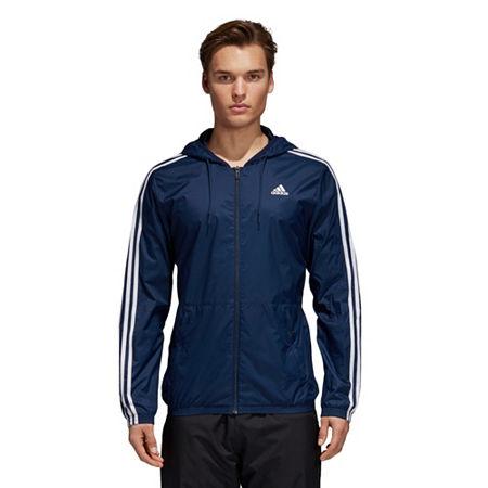 adidas ESS Woven Jacket, Large , Blue