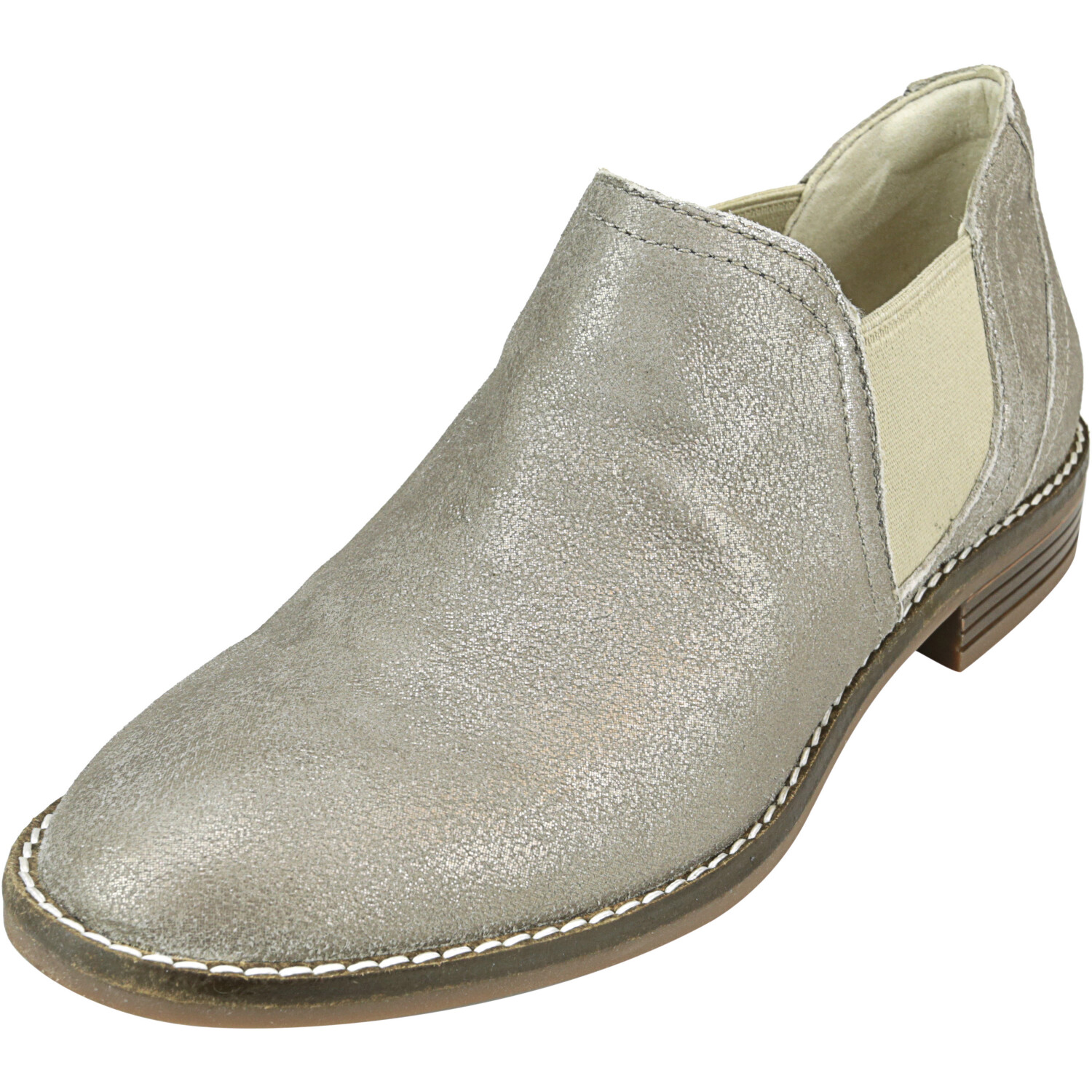 Clarks Women's Camzin Maple Suede Pewter Ankle-High Leather Boot - 5M