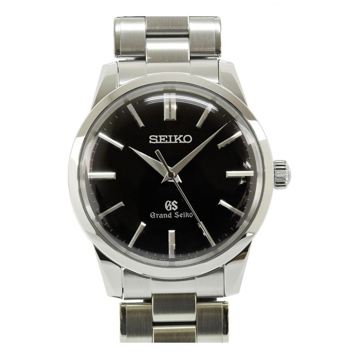 Seiko - Montre   pour homme en acier - noir
