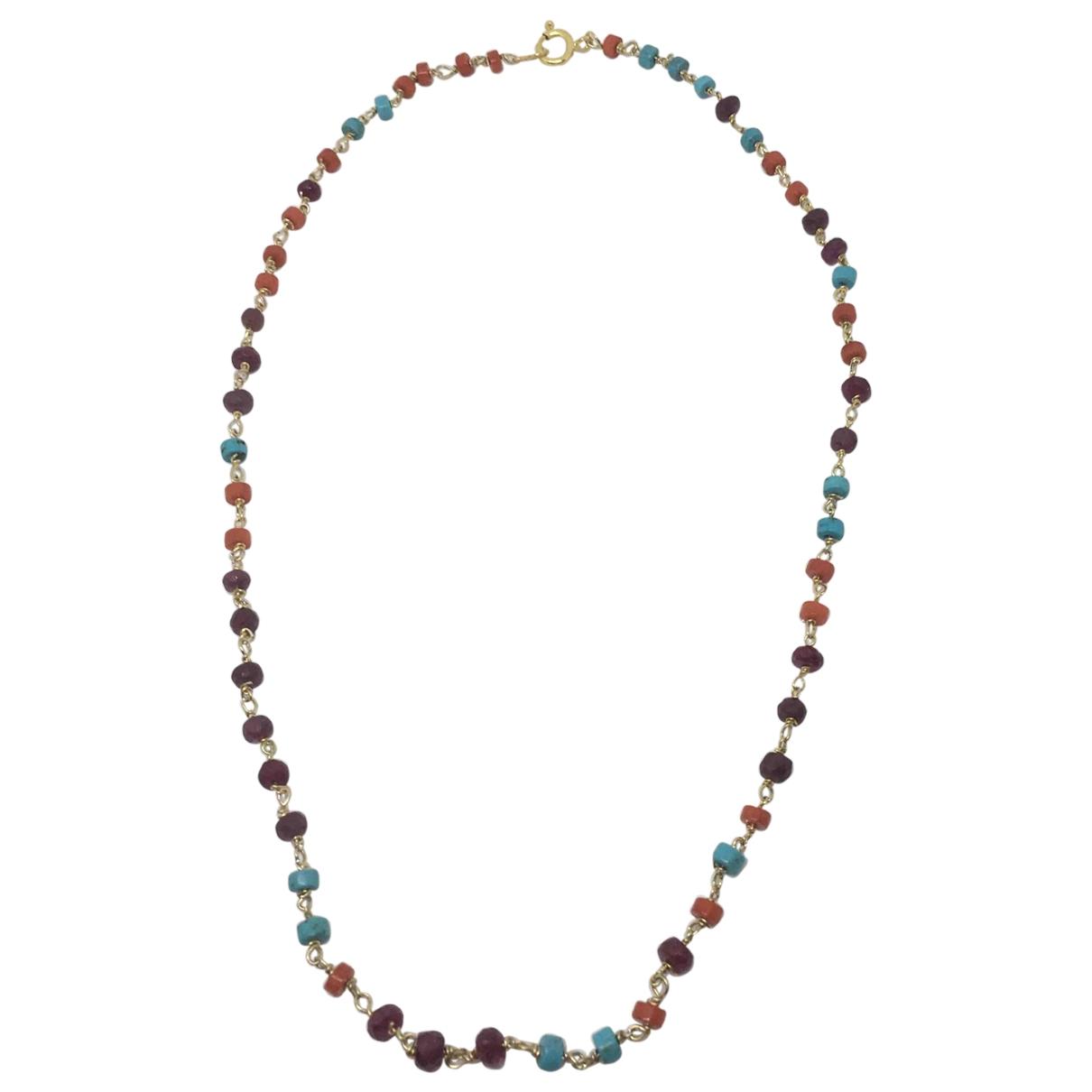 - Collier Rubis pour femme en metal - turquoise