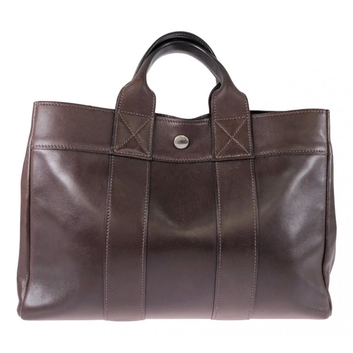 Hermes Herline Handtasche in  Braun Leder