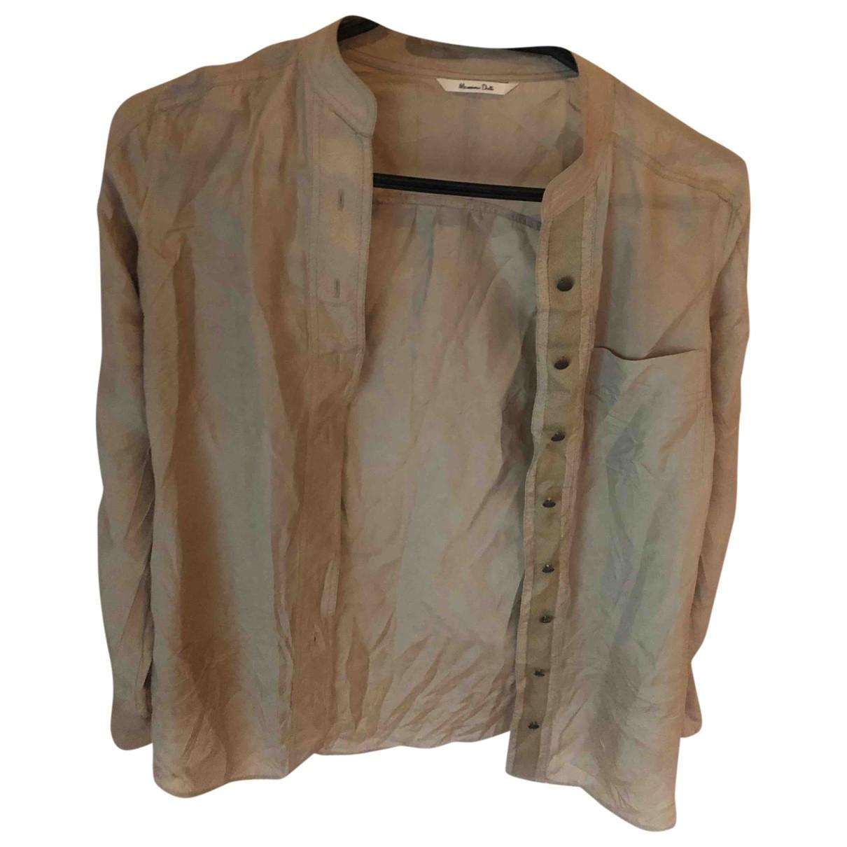Massimo Dutti \N Beige Silk  top for Women 36 FR