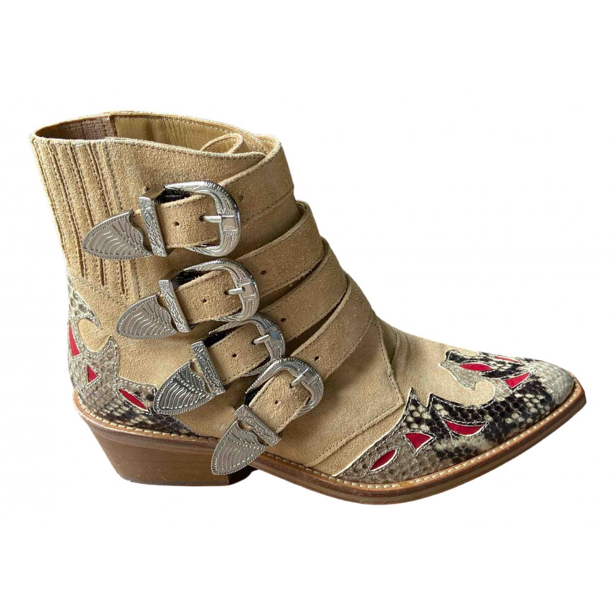 Toga Pulla - Boots   pour femme en cuir - multicolore