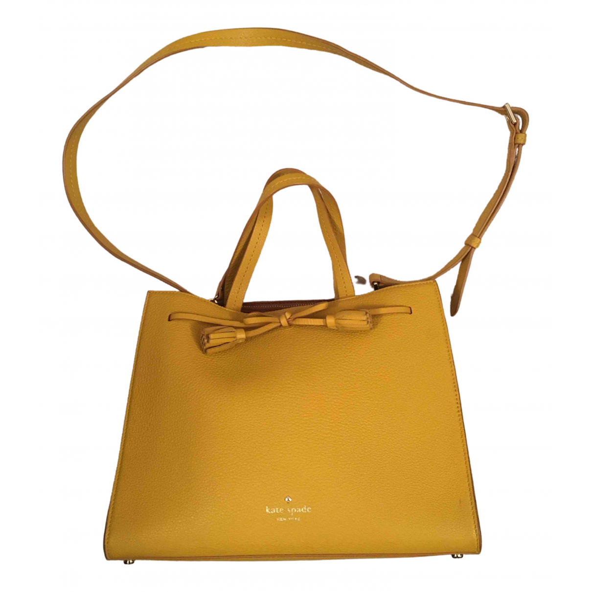 Kate Spade \N Yellow Leather handbag for Women \N