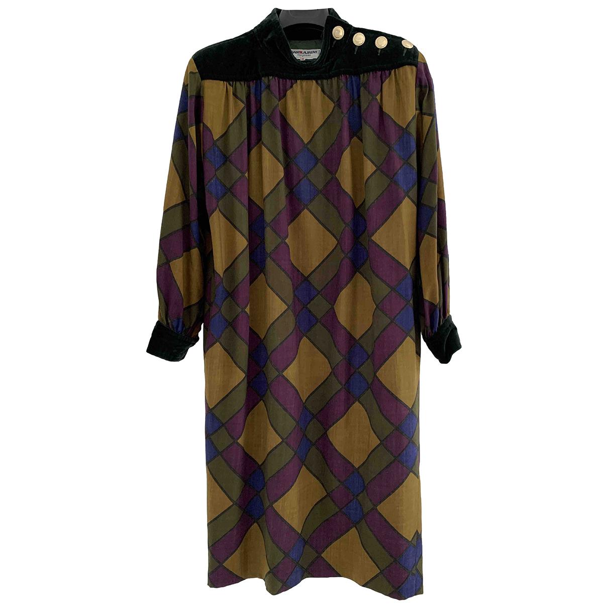 Yves Saint Laurent N Multicolour Wool dress for Women 40 FR