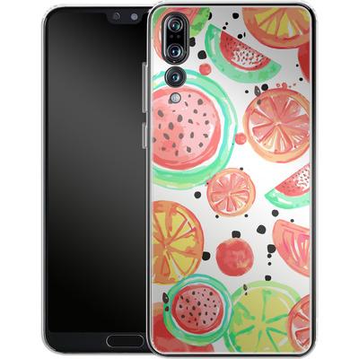 Huawei P20 Pro Silikon Handyhuelle - Fruit Crush von Mukta Lata Barua