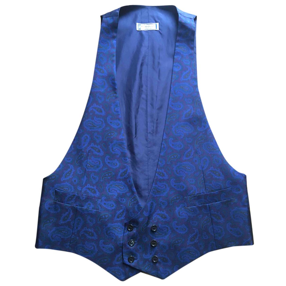 Yves Saint Laurent - Pulls.Gilets.Sweats   pour homme en soie - bleu