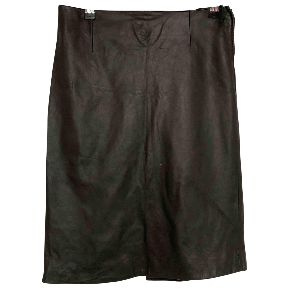 Prada \N Black Leather skirt for Women 40 IT