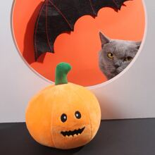 1 Stueck Klangspielzeug mit Halloween Kuerbis Design fuer Hunde