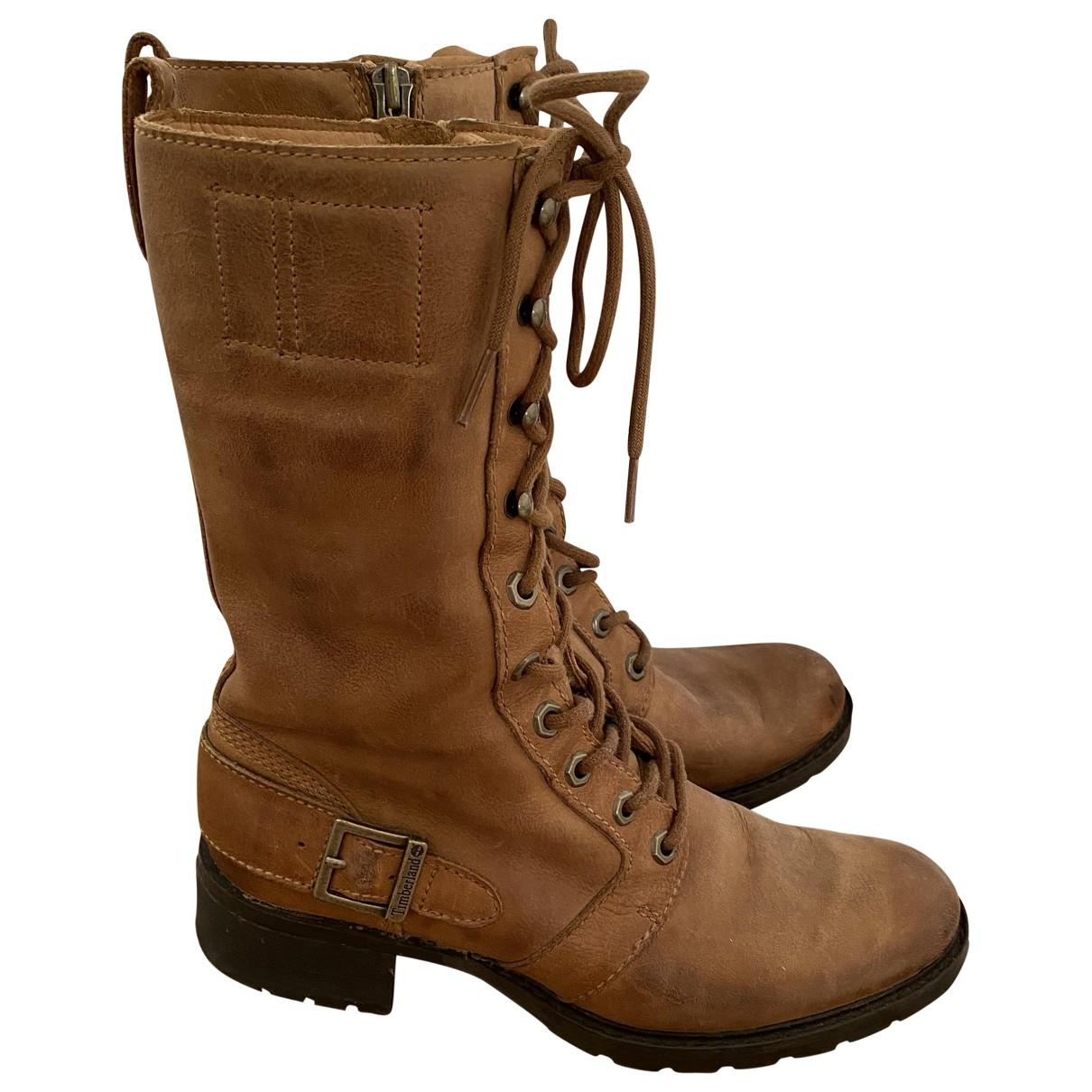 Timberland \N Stiefel in  Beige Leder