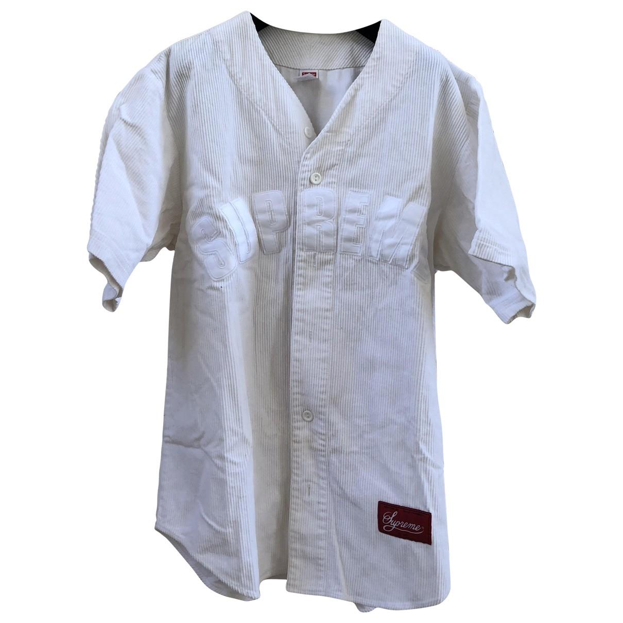 Supreme \N Hemden in  Weiss Baumwolle