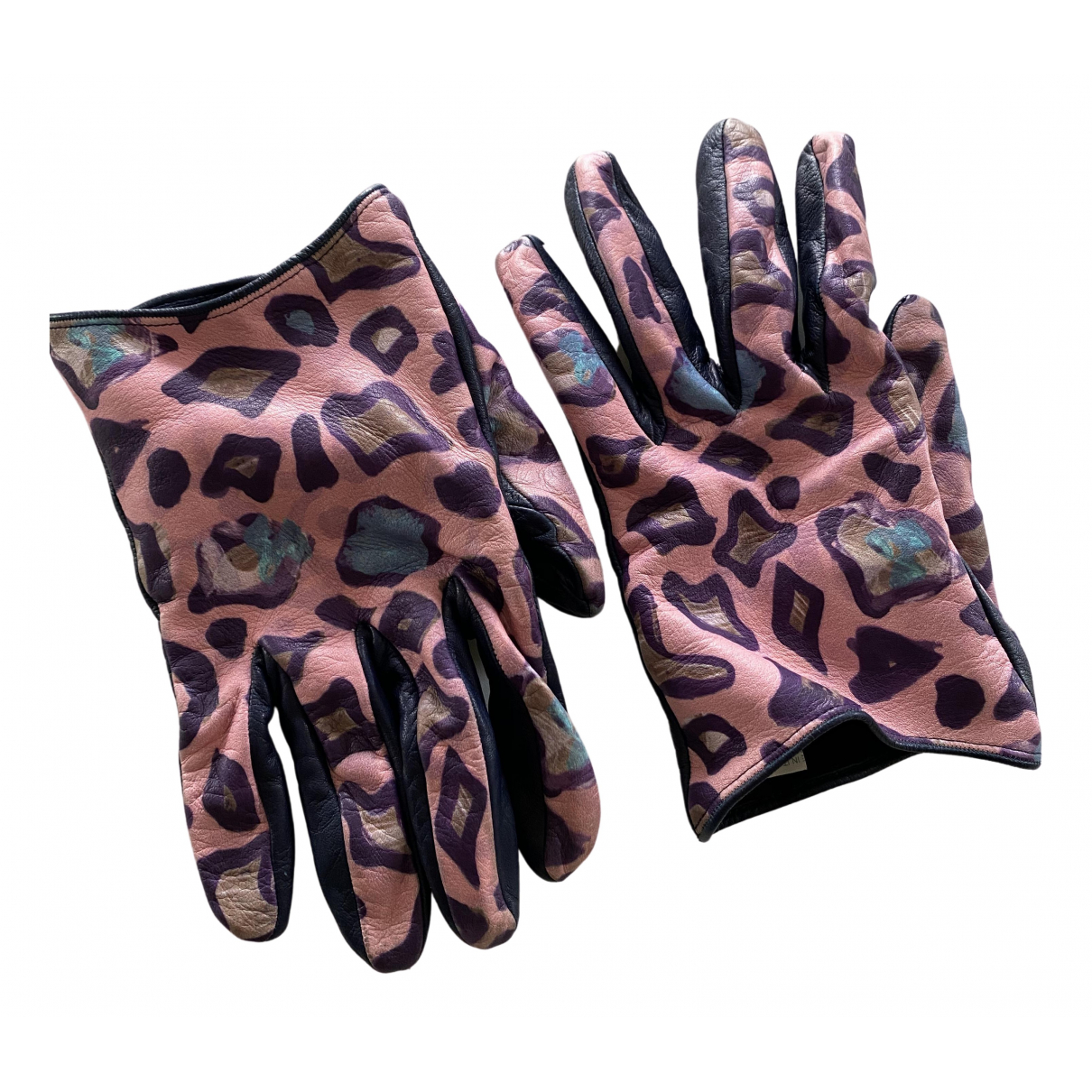 Miu Miu \N Multicolour Leather Gloves for Women 8 Inches