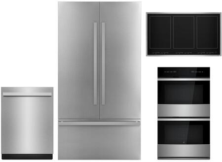 4 Piece Kitchen Appliances Package with JF42NXFXDE 42
