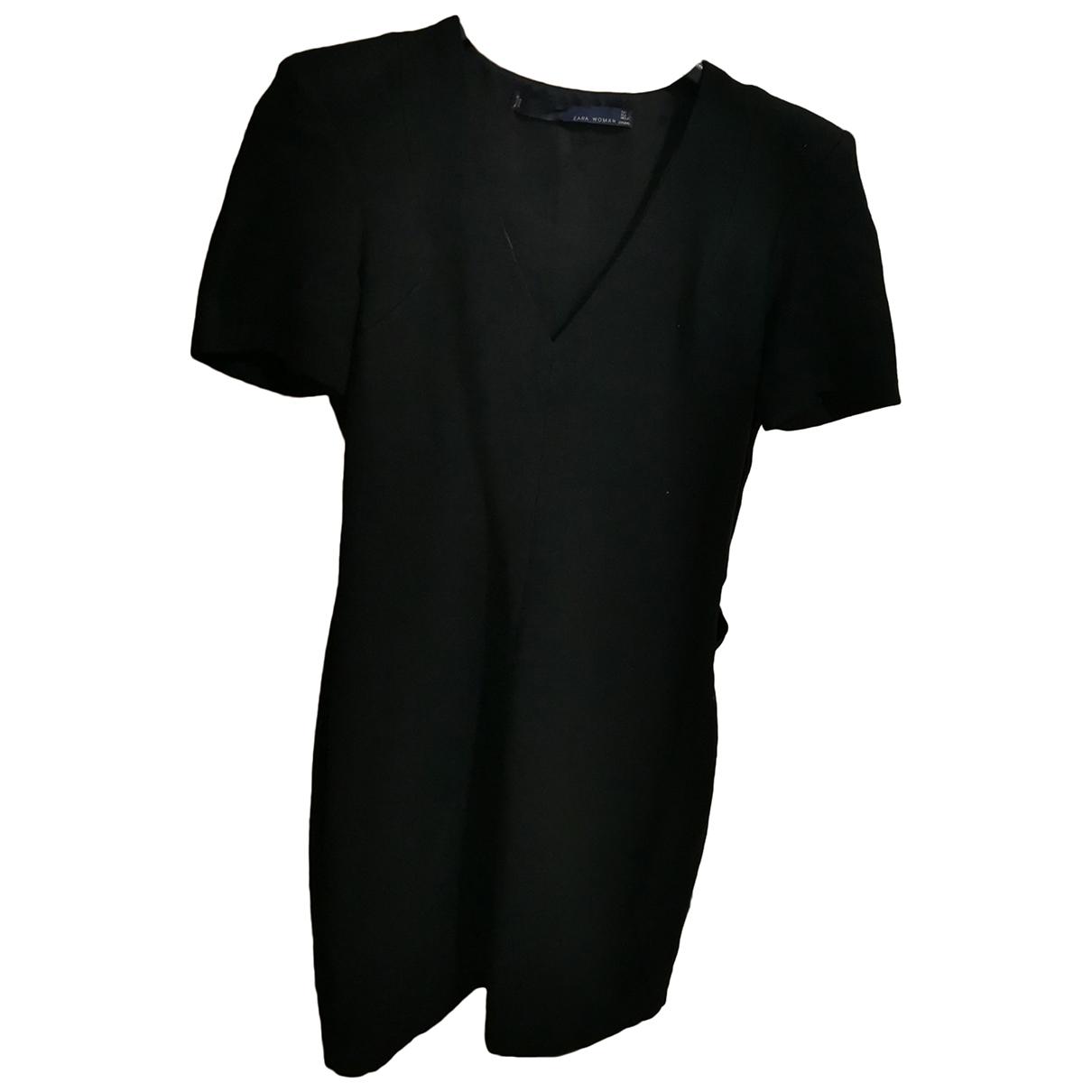Zara \N Kleid in  Schwarz Wolle