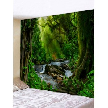 Sunshine Forest River Print Tapestry Wall Hanging Art Decoration