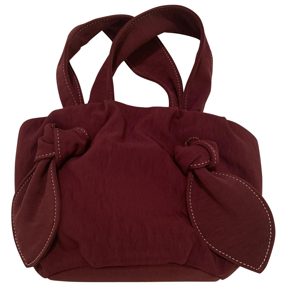 Staud \N Burgundy Cotton handbag for Women \N