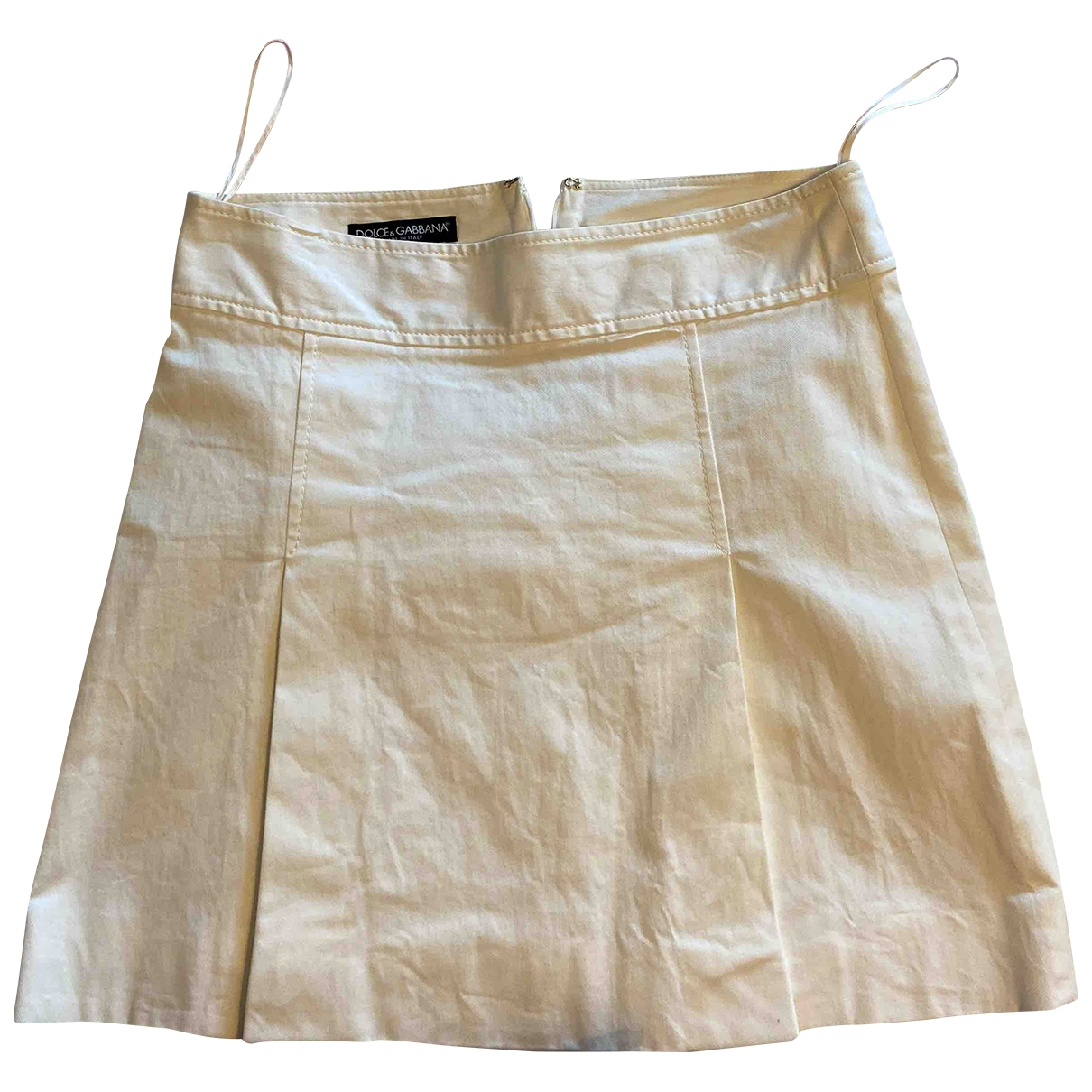 Dolce & Gabbana \N White Cotton skirt for Women 38 FR