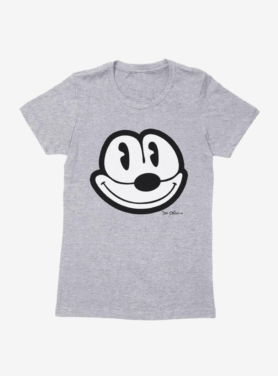Felix The Cat Face Outline Womens T-Shirt