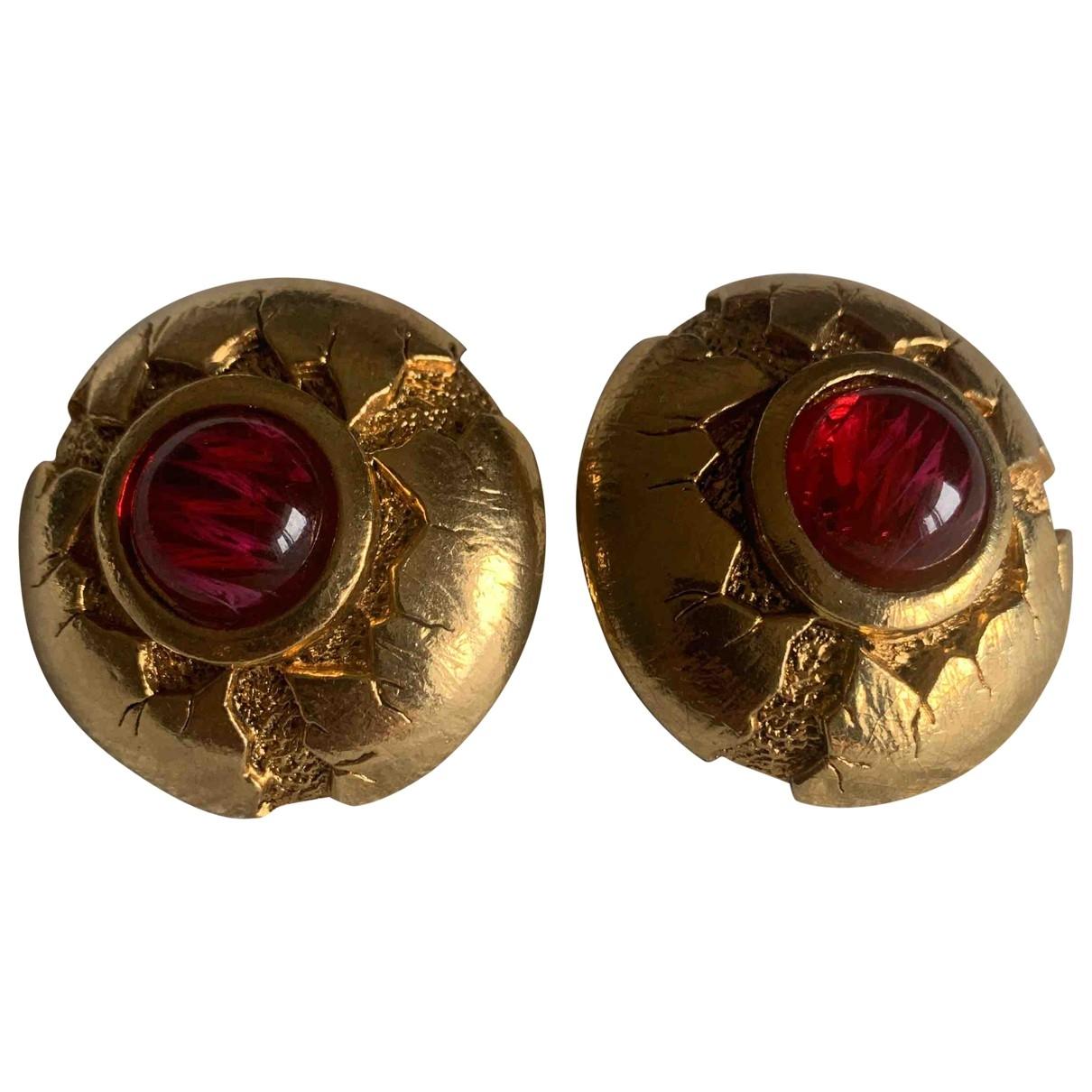 Abbeyroad - Boucles doreilles   pour femme en plaque or - rouge