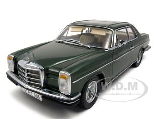Mercedes Strich 8 280C Coupe Moss Green Diecast Model Car 1/18 Platinum Edition by Sunstar