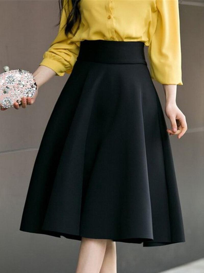 Ericdress A-Line Plain Full Women's Skirt