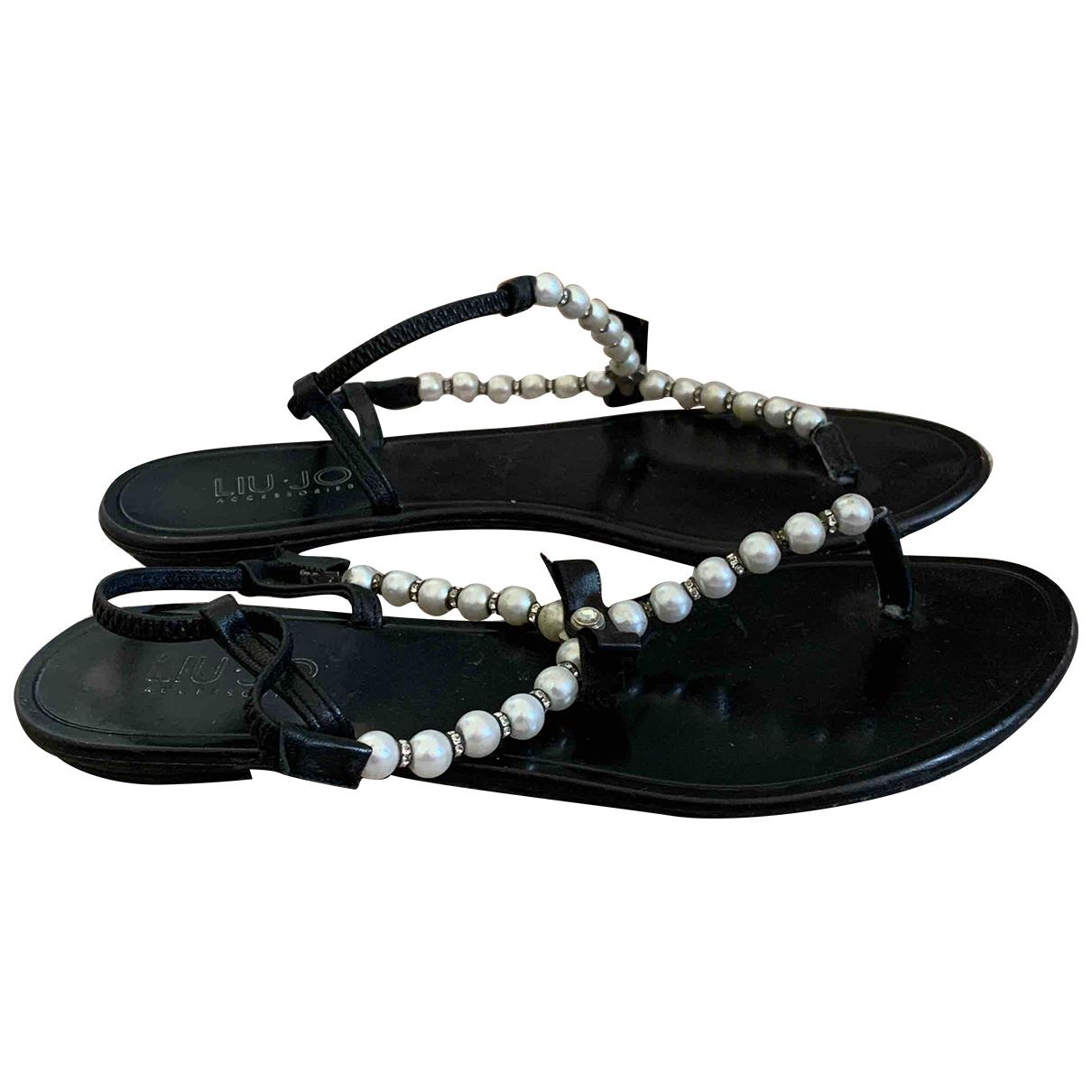 Liu.jo \N Black Leather Sandals for Women 38 IT